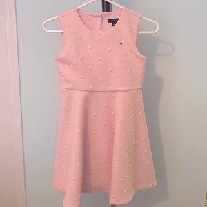 Tommy Hilfiger Girls Pink Sleeveless Skater Dress
